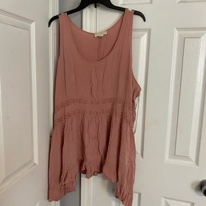 Pink blush top from forever 21 size 2x